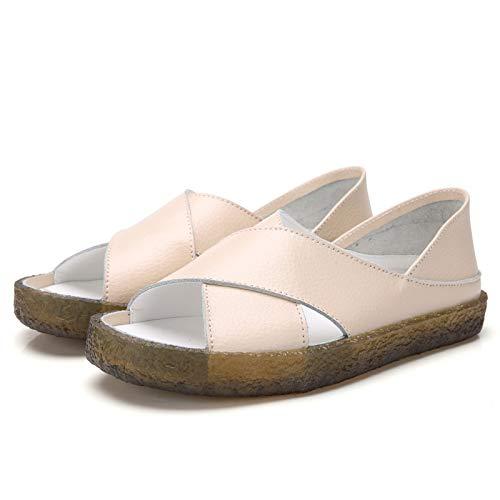 Beige Damen Walking Cross Damen Sandalen Damen Plus Size Sandalen Schwangere Mutter Schuhe Sommer Damen Sandalen Dual-Use Damenschuhe