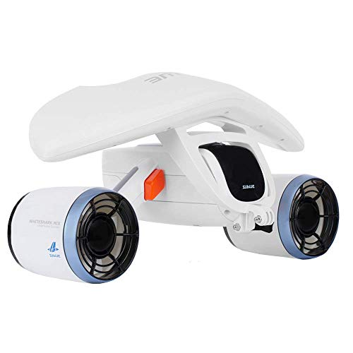 sublue WhiteShark Mix Underwater Scooter for Water Sports, Scuba Diving, Pool, Action Camera Compatible (White)