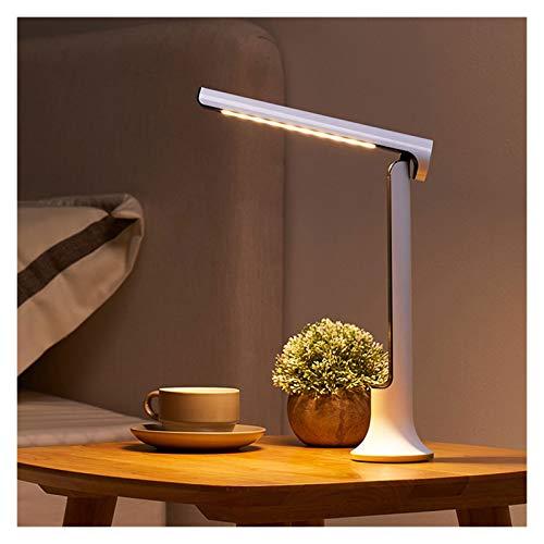 WCN Lámpara De Escritorio LED Recargable LED Luz De Lectura 2000MA Lámparas De Mesa Azul Luz Filtro De Estudio Sensible Al Estudio Trabajo (Color : Black)