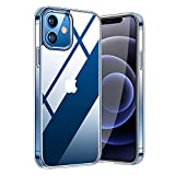 Whew Crystal Clear iPhone 12 PRO MAX Hülle, [Transparent Anti-Gelb] Hard PC und Soft Silikon Ultra Hybrid iPhone 12 PRO MAX Handyhülle Durchsichtig Silikon Schutzhülle Slim Hülle