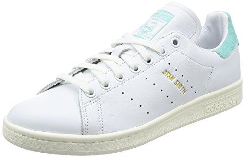 adidas Originals Herren Stan Smith Fitnessschuhe, Weiß (Ftwbla / Ftwbla / Aquene), 44 EU