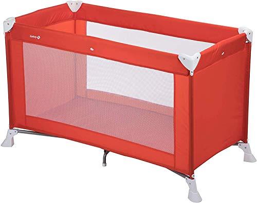 Safety 1st Soft Dreams Lettino da Campeggio per Bambini Pieghevole, Leggero e Compatto, Lettino da viaggio richiudibile, Rosso