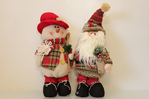Santa & Snowman Festive Chums 2 assortd 45cm standing New for 2015