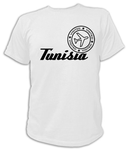 Artdiktat T-Shirt Tunisia Visited Unisex, Größe XL, weiß