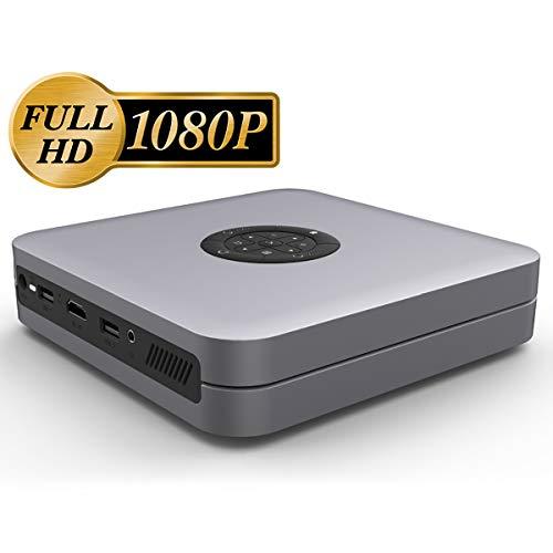 1080P Heimkinoprojektor Mit Hohen Helligkeit DLP-Projektor Mit 4.000 Lumen HD Beamer Silver Gray