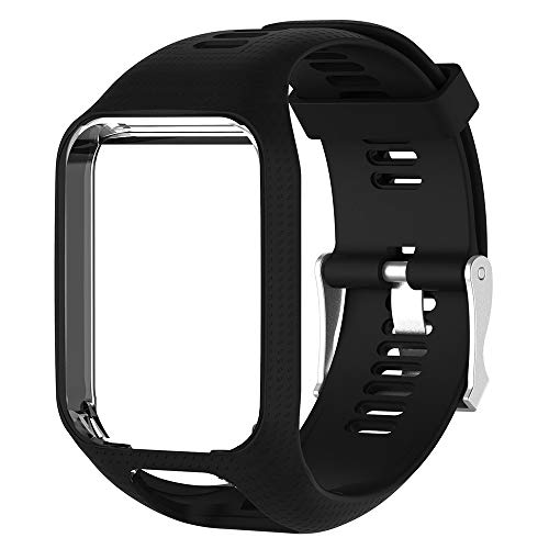 TUSITA Band Compatible with Tomtom Runner 2 3,Spark 3,Golfer 2,Adventurer - Silicone Replacement Strap Bracelet Wristband - GPS Smart Watch Accessories