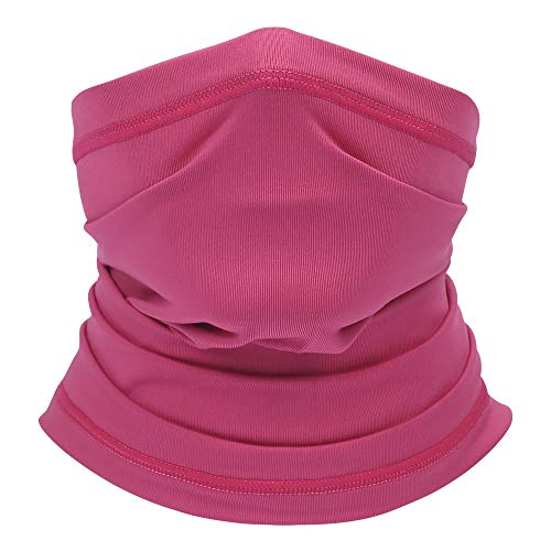 Summer Neck Gaiter Face Scarf/Neck Cover/Face Cover for Sun Hot Summer Cycling Hiking Fishing Rose Red