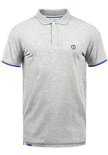 !Solid BenjaminPolo Herren Poloshirt Polohemd T-Shirt Shirt Mit Polokragen, Größe:M, Farbe:Light Grey Melange (8242)