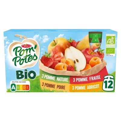 Materne Spécialité de fruits multivariétés, sans sucres ajoutés - Les 12 gourdes de 90g