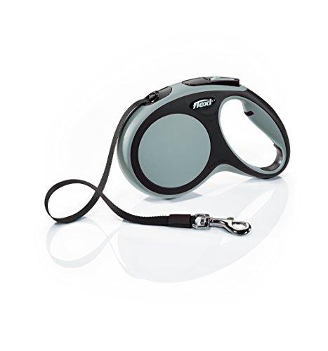 FLEXI New Comfort Retractable Dog Leash (Tape), 16 ft, Medium, Grey (CF20T5.250.GR)