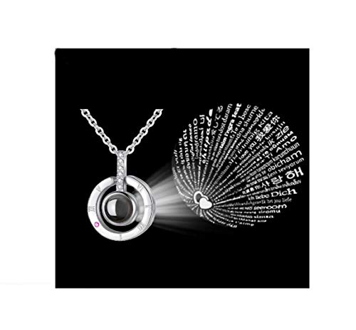 Jacky Store 100 Languages I Love You Memory Necklace...