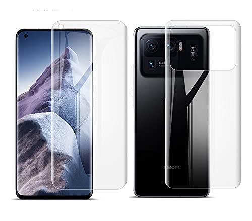 ONICOGEAR (Nicht Panzerglas) Kompatibel mit Xiaomi Mi 11 Ultra Schutzfolie,TPU Full Screen Handy Bildschirm Folie für Xiaomi Mi 11 Ultra(2 Vorne and 2 Rückseite)