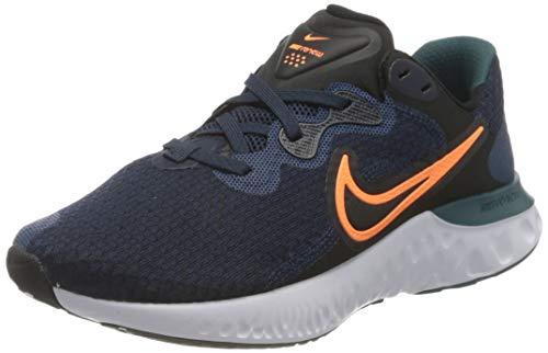 Nike Renew Run 2, Zapatillas para Correr Hombre, Obsidian Black Dk Teal Green Laser Blue Atomic Orange, 39 EU