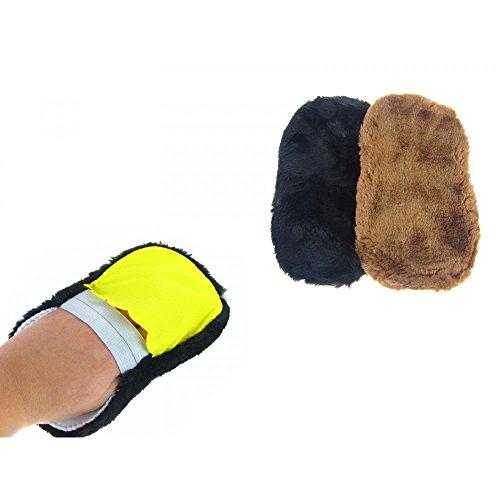 fan2shop gant de cirage polissage fourrure pour chaussure, botte, bottine,sac