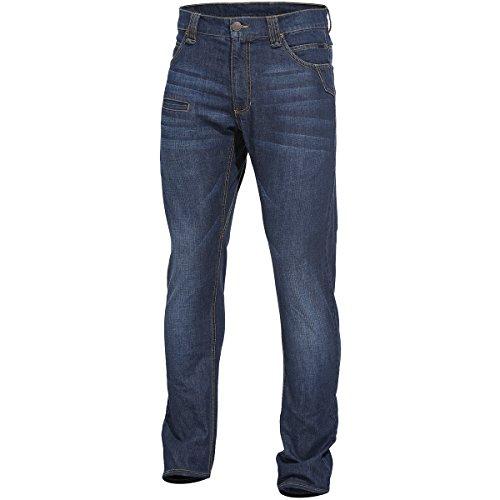 Pentagon Herren Rogue Jeans Hose Indigo Blue Größe W42 L32 (tag Größe 54/81)