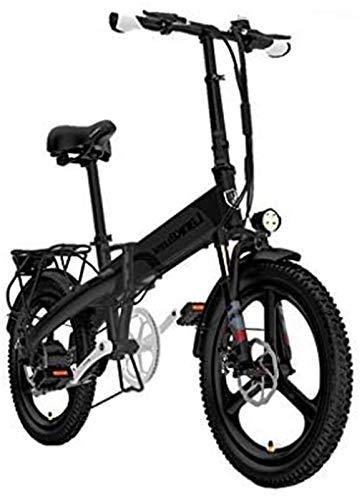 Bicicletas Eléctricas, Plegable bicicleta eléctrica for los adultos, 20' bicicleta eléctrica / conmuta E-bici Con 4000W Motor, 48V10.8Ah batería, de 7 velocidades de transmisión Engranajes ,Bicicleta