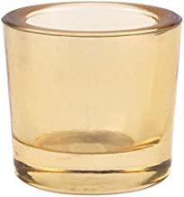 (12, Whiskey) - Bluecorn Beeswax Heavy Glass Votive and Tea Light Candle Holders (12, Whiskey)