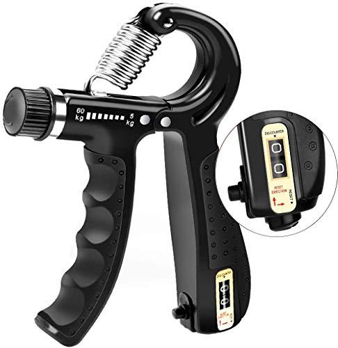 AMBITO Ejercitador de manos, Fortalecedores de mano mancuernas con dedos para fortalecer la muñeca y el agarre, entrenador de dedos con un rango de 5 kg - 60 kg