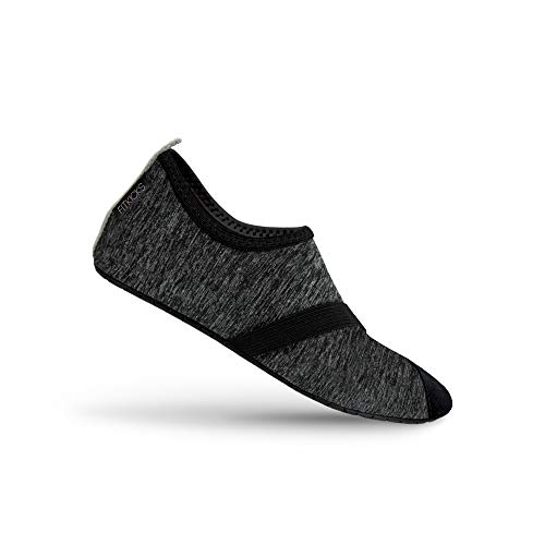 FitKicks Live Well Women's Foldable Active Lifestyle Minimalist Footwear Barefoot Yoga Water Everyday Shoes Black