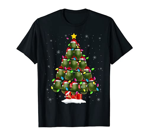 アボカドクリスマスツリー かわいいアボカドフルーツ愛好家 ビーガンギフト Tシャツ
