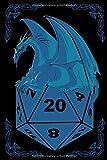 JDR Jeux De Role Donjons Dés bleu Dragons: Carnet de notes Papier de 120 Pages A5 (6x9 inches) Cahier.RPG Dice Jeux de rôle Jeux de rôle Dragons Stylo ... idée cadeau d'anniversaire (French Edition)