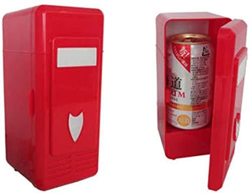 LFK Pequeño refrigerador Wawa Mini frigorífico caliente y frío USB mini refrigerador refrigerador mini refrigerador USB refrigerador refrigerador mini refrigerador para coches y casas