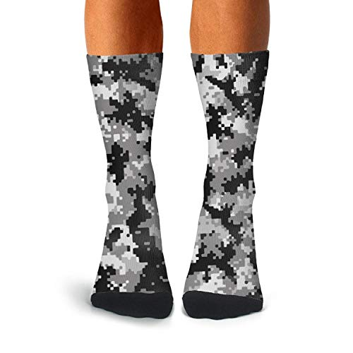Men's Digital Camo Socks Extra Thick Winter Compression Soccer Socks