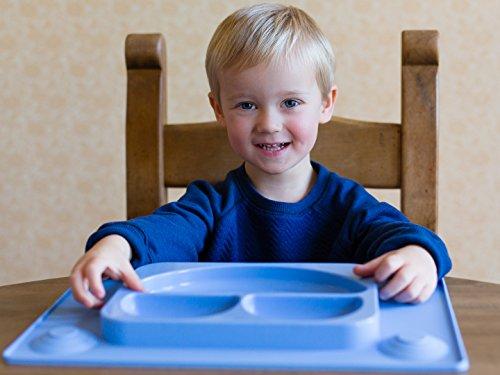 Kein Durcheinander Gelb von EasyTot Kleinkind und Baby Happy Face Essensset EasyMat Kids Tischset /& Saugplatte mit Divisionen und L/öffel Von Baby Led Weaning Alter 6 Monate