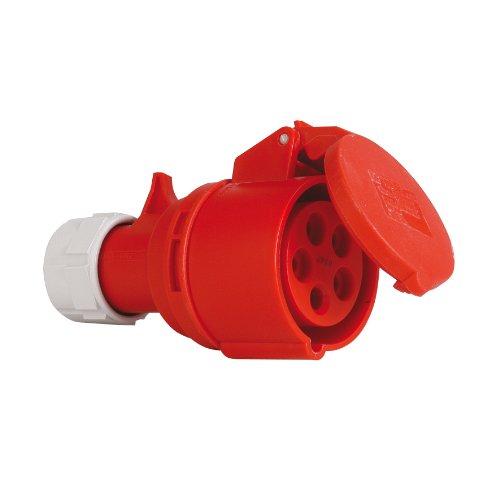 CEE Kupplungssteckdose 5polig, 16A/400V, PCE SHARK, 215-6, IP 44, PCE, werkzeugloses Öffnen und Schließen