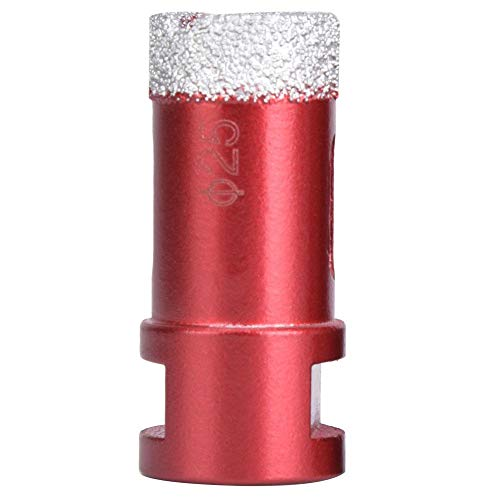 Diamond Hole Saw, 20mm / 22mm / 25mm Coated Diamond Core Drill M14 Hole Saw for Porcelain Ceramic Tile Marble Brick, Application for Angle Grinder(25mm)