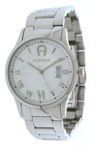 Aigner 4050649525538–Uhr für Männer, Edelstahl-Armband Silber