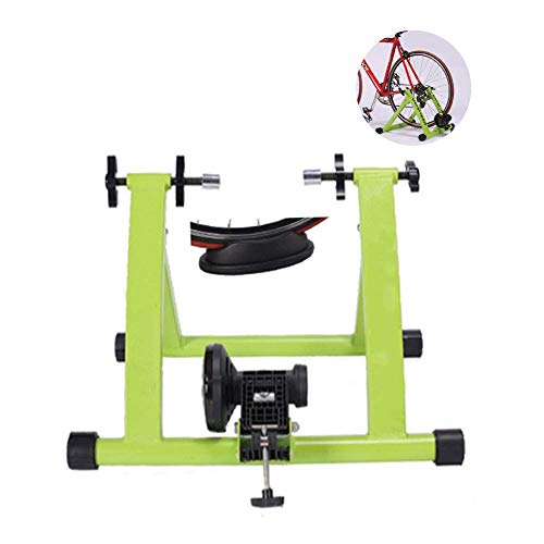 Indoor Exercise Bike Trainer Stand, Portle Foldle Bicycle Turbo Trainer, Compact Structure, Stationary Exercise for Road & Mountain Bikes