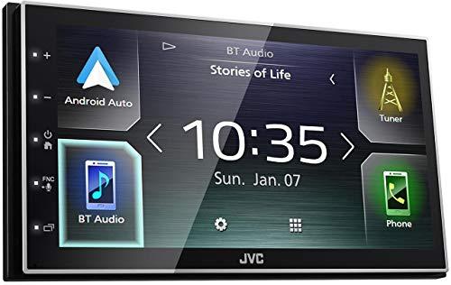 Jvc KW-M741BT, Radio para Coche (Bluetooth, 2 DIN, 50 W, Mos-FET, AAC,Flac,Mp3,Wav,Wma, BMP, JPEG, PNG, Android Auto Carplay), USB, Negro