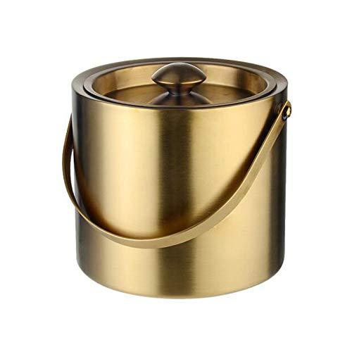 LJJOO Cubo de hielo de metal, recipiente de hielo de acero inoxidable Cubo grande de hierro de hierro de gran tamaño Cubeta de flores de color, lata de basura portátil, adecuada para barbacoas, fiesta