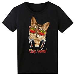 Glow In The Dark Cat LED Light up Equalizer T-Shirt