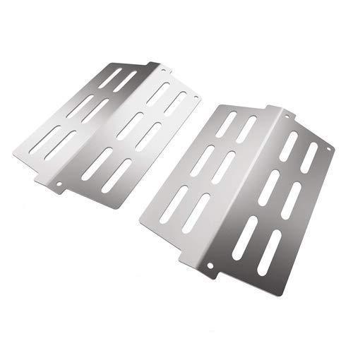 GFTIME 7622 Flavorizer Bars für Weber Genesis 300 Serie E310 E320 E330 S310 S320 S330 Gasgrill, BBQ 33,65 x 22,2 cm Ersatzteile Heat Deflector, Edelstahl brennerabdeckung Aromaschienen Hitzeschild