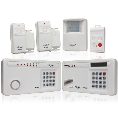 Skylink SC-1000W Complete Wireless Home & Office Burglar Alarm Alert Safety Security System with External Emergency Dialer | Affordable, Easy to Install DIY