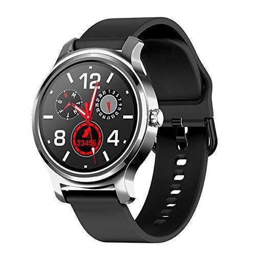 JXFF R2 Smart Watch Monitor De Ritmo Cardíaco Bluetooth Accesorio De Pulsera, Llamado Mensaje Recordatorio Música Fitness Tracker para Hombres Y Mujeres Deportes Smartwatch para Android iOS,E