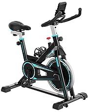 2WD Bicicletas Estáticas Resistencia Ajustable con Pantalla LCD y Monitor de Frecuencia Cardíaca, Bicicleta Estática de Interior Fitness Bikes Tranquilo