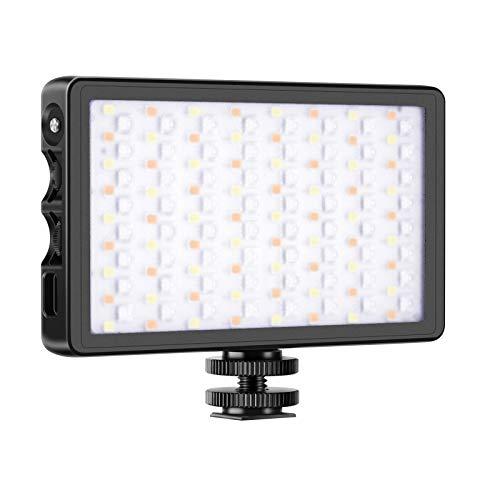 Neewer SL-140 RGB LED Licht Vollfarben wiederaufladbar LED Videolicht im Taschenformat für Kamera Camcorder CRI 97/2500-9000K/0-360 Einstellbare Farben/Aluminiumlegierungsschale mit Magnet