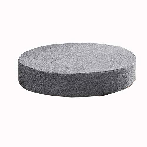 Almohadillas redondas para sillas de comedor, cocina, jardín, cojines gruesos, antideslizantes, para exteriores, cojines de asiento de oficina, lavables (50 x 50 x 5 cm, gris)