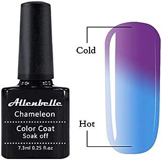 Allenbelle Color Changing Nail Polish Gift Set Color Changing Gel Polish Set Mood Soak Off Uv Led Gel Nail Polish 5737