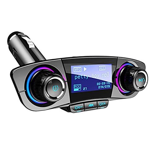 ZHANGWY Yang Store Manos Libres Bluetooth4.0 FM Transmisor Aux Modulator AUX AUTH AUTH Audio Player MP3 Dual USB Cargador