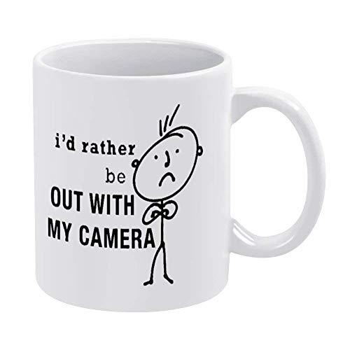 N\A Citas Taza de café Divertida Cámara Blanca Novedad Taza de té de cerámica Taza de Oficina Cumpleaños de Navidad Regalo de inauguración de la casa para Hombres Mujeres