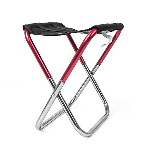KASOS Folding Camping Stool, Mini Lightweight Aluminum Slacker Chair with Storage Bag for Camping...