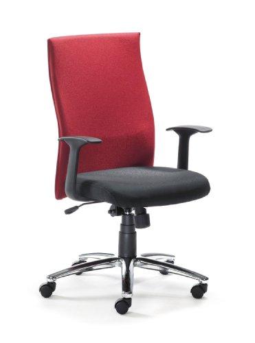 Mayer Drehstuhl, Kunststoff, Sitz schwarz, Rücken rot, One Size