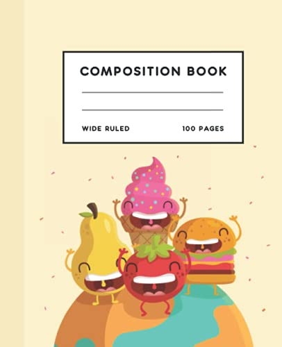Ice Cream Composition Notebook: Kawaii Ice Cream Composition Notebook | Composition Notebooks Wide Ruled for Kids | 100 Pages |