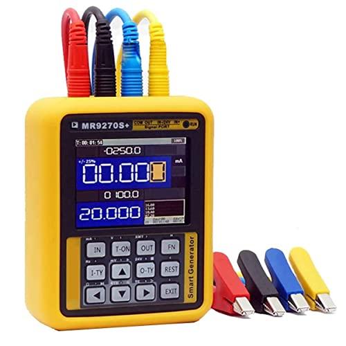 BJH Generador de señal de 4-20 mA de 2,4 Pulgadas, transmisor de presión de señal MR9270S +, Pantalla IPS HD, para inversor PLC, termopar de Voltaje de Corriente de calibración