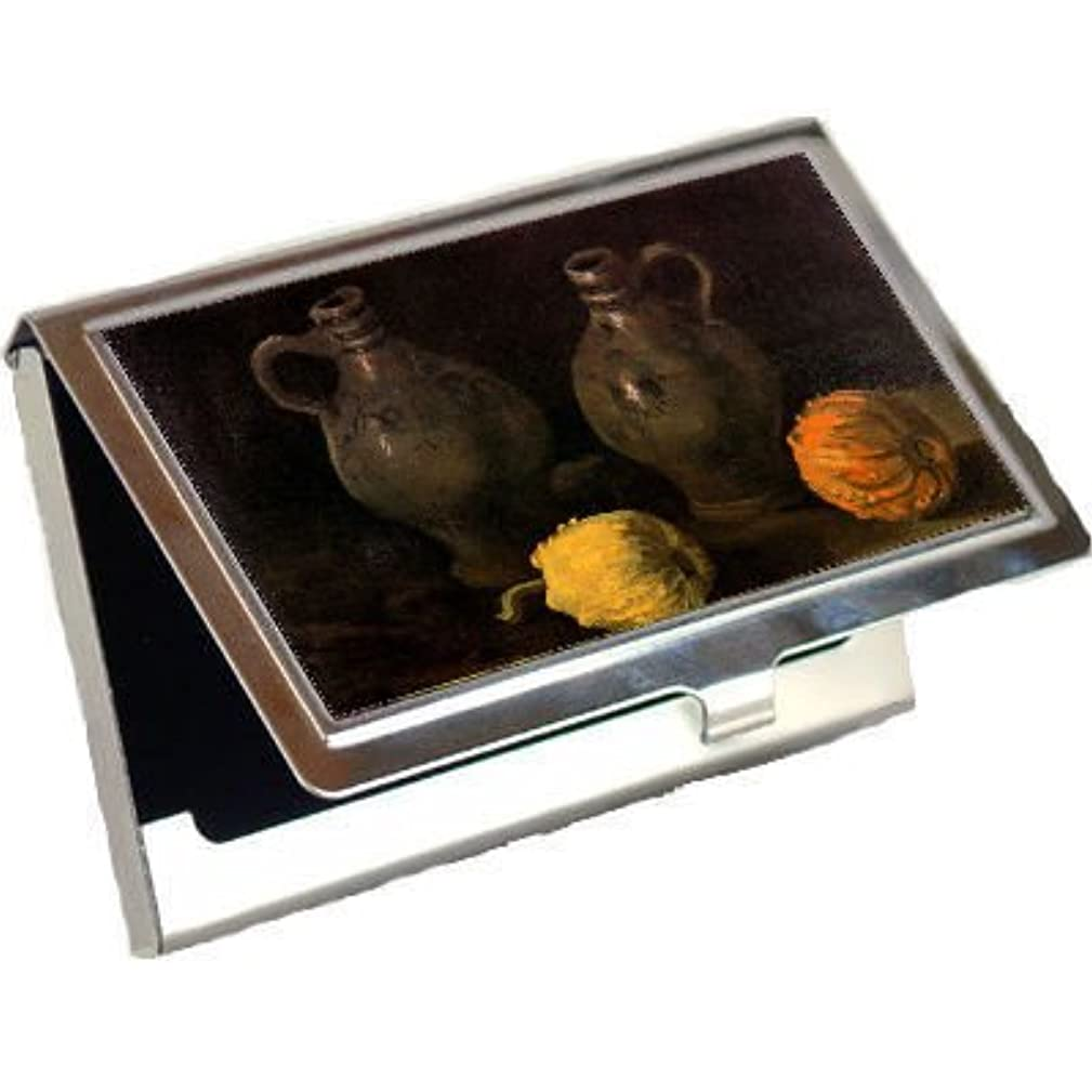 Still Life with Two Jars and Two Pumpkins By Vincent Van Gogh Business Card Holder