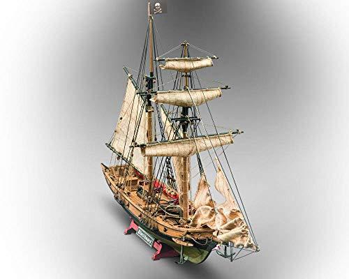 木製帆船模型 マモリ社 MV82 海賊船 ブラックベアード(60分の帆船模型製作入門DVD及び資料付属)